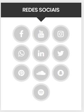 Widget WordPress Redes Sociais Barra Lateral