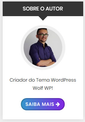 Widget WordPress Sobre o Autor Barra Lateral